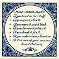 Mom's House Rules, Dutch Delft Tile 6