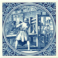 Boeckdrucker / Printer, Dutch Delft Tile 6