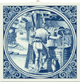 Verwer / Launderer, Dutch Delft Tile 6