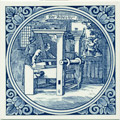 Weever / Weaver, Dutch Delft Tile 6