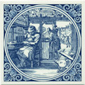 Boeckbinder / Bookbinder, Dutch Delft Tile 6