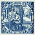 Orlosimaaker / Watchmaker, Dutch Delft Tile 6