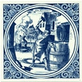 Kuiper / Barrelmaker, Dutch Delft Tile 6