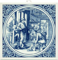 Schoenmaaker / Shoemaker, Dutch Delft Tile 6