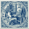 Schilder / Artist, Dutch Delft Tile 6