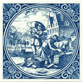 Metselaar / Bricklayer, Dutch Delft Tile 6
