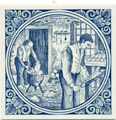 Klompenmaker / Clog Maker, Dutch Delft Tile 6