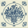 Fruit Basket, Dutch Delft Tile 6