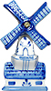 3 1/2H Holland Windmill Delft Blue, Fridge Magnet
