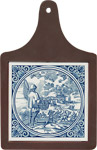 Cheeseboard w/ Delft-Blue Tile - Visser / Fisherman