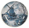 Delft Blue Decorative Plate - Four Seasons/Summer, 9.5 D