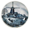 Delft Blue Decorative Plate - Four Seasons/Spring, 9.5 D