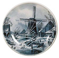 Delft Blue Decorative Plate - Four Seasons/Winter, 9.5 D