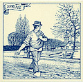 6  Dutch Tile - Spring Scene