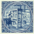 Diamantslyper / Diamond Cutter, Dutch Delft Tile 6