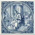 Zyreeder / Silk Spooler, Dutch Delft Tile 6