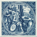 Instrumentmaaker / Instrument Maker, Dutch Delft Tile 6