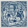 Chirurgyn / Surgeon, Dutch Delft Tile 6