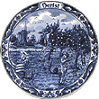 Herfst/Fall, Hand Painted Delft Blue Plate 8 D