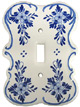 Delft Blue Single Switch Cover Plate