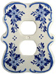 Delft Blue Double Outlet Cover Plate