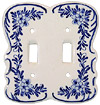 Delft Blue Double-Switch Cover Plate
