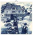 Dutch Tile, Antique Delft Blue Clogmaker