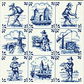 Dutch Tile, Delft Blue 9 Scenes