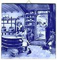 Dutch Tile, Delft Blue Cheesemaker