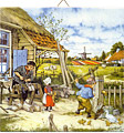 Dutch Tile, Color Clogmaker & Children