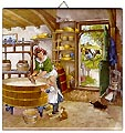 Dutch Tile with Color - Cheesemaker, 6