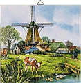 Dutch Tile, Color 4 Seasons - Spring