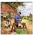 Dutch Tile with Color - Clogmaker, 6