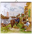 Dutch Tile with Color - Fisherman, 6