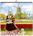 Dutch Tile, Color Tulip Girl, 6