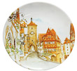 Color Decorative Plate - Rothenburg European Village, 8.25 D