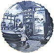Decorative Plate, Delft Blue Cheese Maker 7.5 D