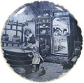 Delft Blue Decorative Plate - Cheese Maker 9.5 D