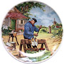 Dutch Decorative Plate, Clog Maker, 6.7D Color