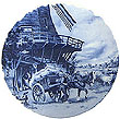 Decorative Plate, Delft Blue Miller 7.5D