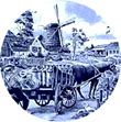 Decorative Plate, Delft Blue Milkman 7.5D