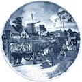 Delft Blue Decorative Plate - Milkman 9.5 D