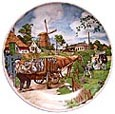 Color Decorative Plate - Milkman 7.5D