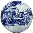 Decorative Plate, Delft Blue Wedding 7.5 D