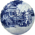 Delft Blue Decorative Plate - Wedding 9.5 D