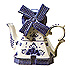 Delft Blue Decorative Windmill, Teapot