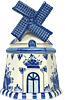 Delft Blue Windmill Cookie Jar, 10 H