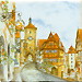 Rothenburg ob der Tauber Color Tile, Refrigerator Magnet - 3