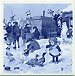 Dutch Village Snow Day Blue Tile, 3 SQ Fridge Magnet