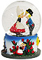 Dutch Boy & Girl Kissing Snow Globe, 2.5H